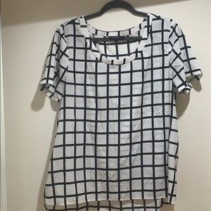 Black and white checkered shirt - Banana Republic